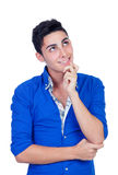 Pensive young men Royalty Free Stock Photo