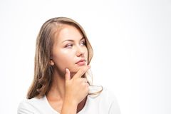 Pensive young woman looking away Stock Photography