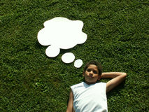 Penso? Fotografia Stock