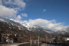 Pensão do rio Innsbruck, Áustria Imagens de Stock Royalty Free