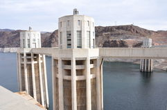 Penstock towers of Hoover Dam Stock Photo
