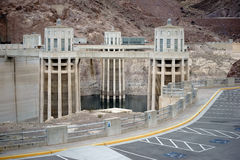 Penstock towers at Hoover Dam Stock Photography