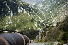 Penstock w Pyrenees Zdjęcia Stock