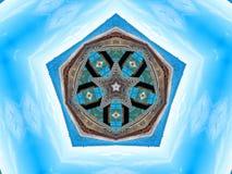 Pentágono e projeto azul sonhador da estrela ilustração royalty free