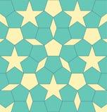 Pentágono geométrico de la forma con el Rhombus y las estrellas Ejemplo abstracto del vector EPS 10 stock de ilustración