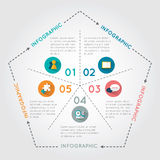 Pentágono infographic Fotografía de archivo libre de regalías