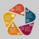 Pentágono infographic del negocio en diseño plano Disposición para sus opciones o pasos Modelo abstracto para el fondo Imágenes de archivo libres de regalías