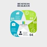Pentágono infographic del negocio en diseño plano Disposición para sus opciones o pasos Modelo abstracto para el fondo Fotografía de archivo libre de regalías