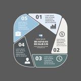Pentágono infographic del negocio en diseño plano Disposición para sus opciones o pasos Modelo abstracto para el fondo Imagen de archivo libre de regalías