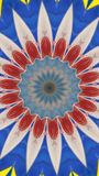 Pent abstract. Blue,red & white Stock Images