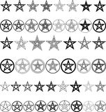 Pentacle. Set of pentagrams -  illustration Royalty Free Stock Images