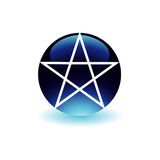 Pentacle with a glow Stock Images