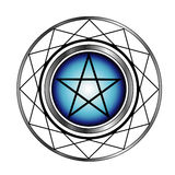 Pentacle with a glow. Religious symbol satanism Stock Photo