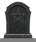 Pentacle on gravestone Royalty Free Stock Photo