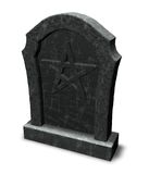 Pentacle on gravestone Stock Images