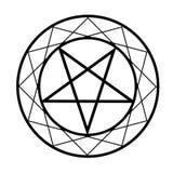 Pentacle. Religious symbol of satanism Royalty Free Stock Photos