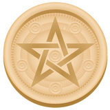 Pentacles Symbol Tarot Card Suit Royalty Free Stock Image