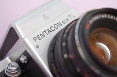 Pentacon Six camera. Vintage analogue SLR German camera stock image