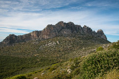 Pentadaktylos rocky mountain peaks in Cyprus Stock Images