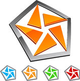 Pentagon. Set of Pentagon elements. Vector illustration Royalty Free Stock Image