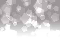 Pentagon abstract background. Pentagon abstract gray background with copyspace Stock Image