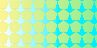 Pentagon and arrow geometric colourful background Stock Photos