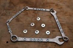 Pentagon av skiftnycklar Royaltyfri Bild