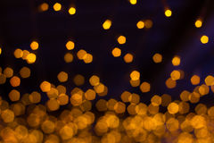 Pentagon bokeh. Orange pentagon shape bokeh background royalty free stock photography