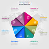 Pentagon Business Infographics strategy design elements. Template illustration. Vector eps10 Royalty Free Stock Images