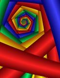 Pentagon de giro que remolina Imagen de archivo libre de regalías