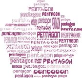 Pentagon de pentágonos Imagen de archivo libre de regalías