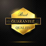 Pentagon Golden best quality badge. Illustration of Pentagon Golden best quality badge Stock Photos