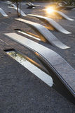 The Pentagon Memorial features 184 empty benches Royalty Free Stock Image