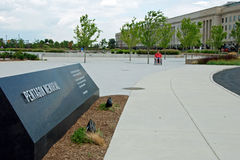 Pentagon memorial in Washington DC Stock Image