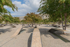 The Pentagon Memorial in Washington DC - no names on display. The Pentagon Memorial in Washington DC Stock Image