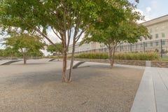 The Pentagon Memorial in Washington DC - no names on display. The Pentagon Memorial in Washington DC Stock Photography