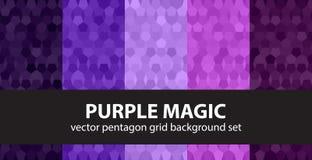Pentagon pattern set Stock Image