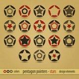 Pentagon pointers Stock Photos