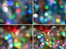 Pentagon rainbow light sparkles royalty free stock images