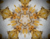 Pentagon shape abstract extrude mandala Royalty Free Stock Photos