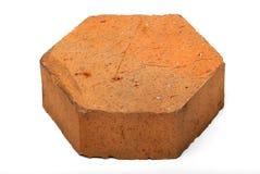 Pentagon shaped brick on white isolation Stock Image
