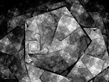 Pentagon shaped nanocrystal fractal black and white texture. Pentagon shaped nanocrystal fractal, black and white, computer generated abstract texture for Royalty Free Stock Photos