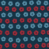 Pentagonal design background Stock Photos