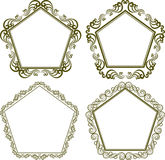 Pentagonal frame Stock Photos