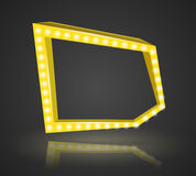 Pentagonal frame with space for text. Stock Photo