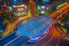 Pentagonal Square. Yangpu district, shanghai, china Royalty Free Stock Photography