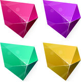 Pentagonal vibrant pyramid. Royalty Free Stock Photo