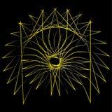 Pentagone étoilé réglé d'astrologie d'étoile d'icône Photographie stock libre de droits