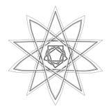 Pentagone étoilé réglé de modèle d'icône d'astrologie géométrique d'étoile Photographie stock