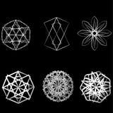 Pentagone étoilé réglé de modèle d'icône d'étoile d'astrologie de modèle géométrique géométrique de starsAstrology Image stock